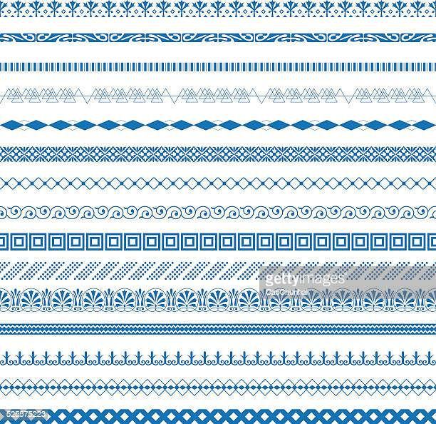 dividing lines collection - chinese decoration stock illustrations