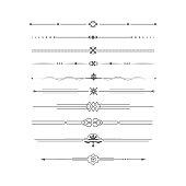 Dividing lines set