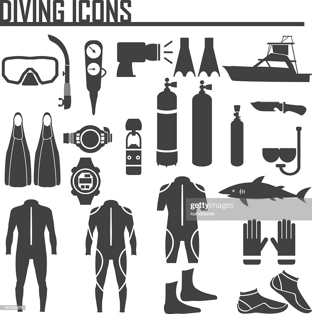 diving icon vector illustration.