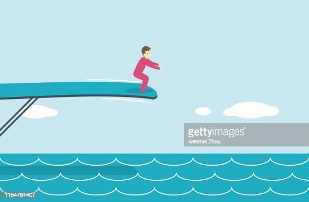 水に飛び込む - 水に飛び込む点のイラスト素材/クリップアート素材/マンガ素材/アイコン素材