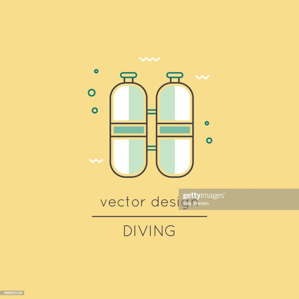 Diving line icon