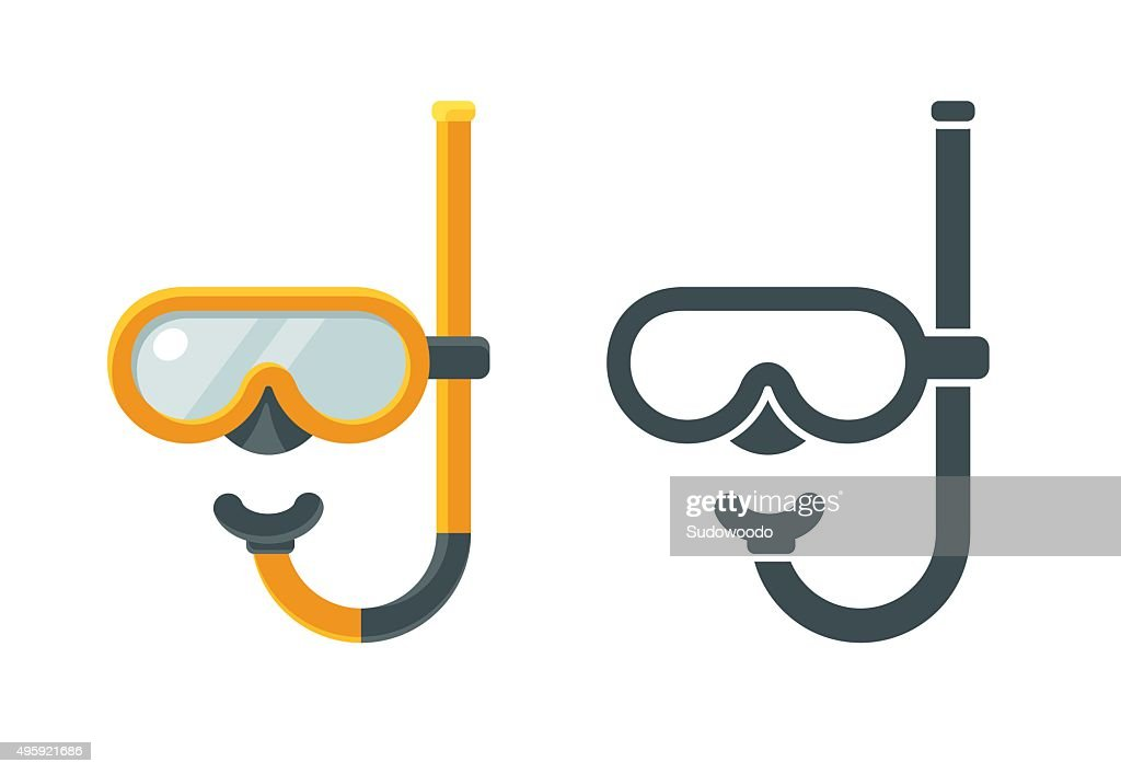 Diving mask icons