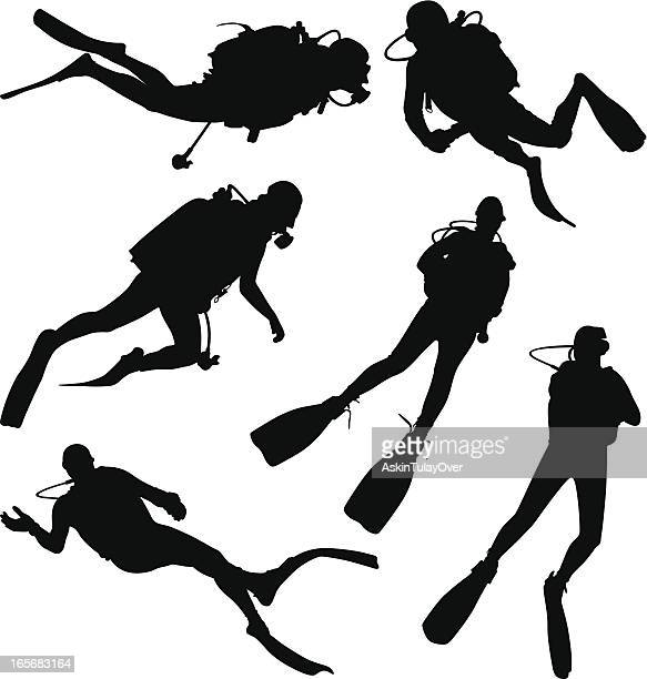 diving - diving stock illustrations