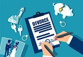 Divorce and property divison concept.