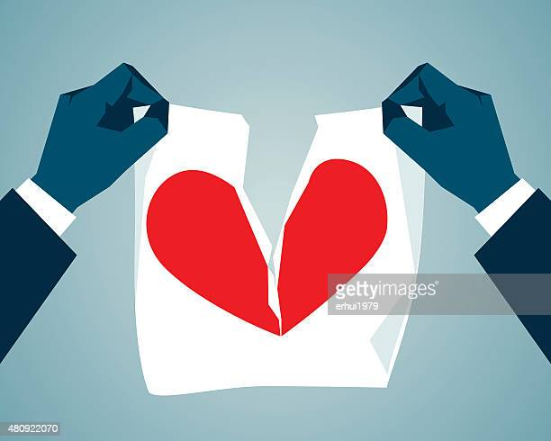 divorce - glühend stock illustrations