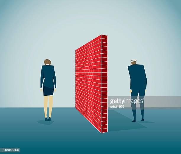 divorce - surrounding wall stock illustrations