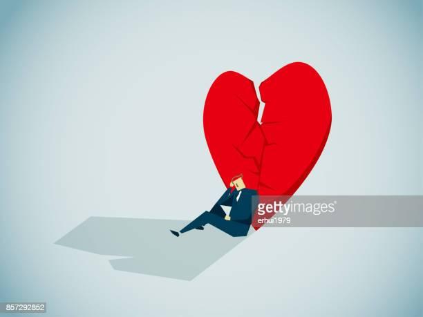 divorce - overworked stock illustrations