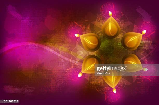 diwali background - mandalas india stock illustrations