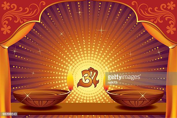 diwali background - hinduism stock illustrations