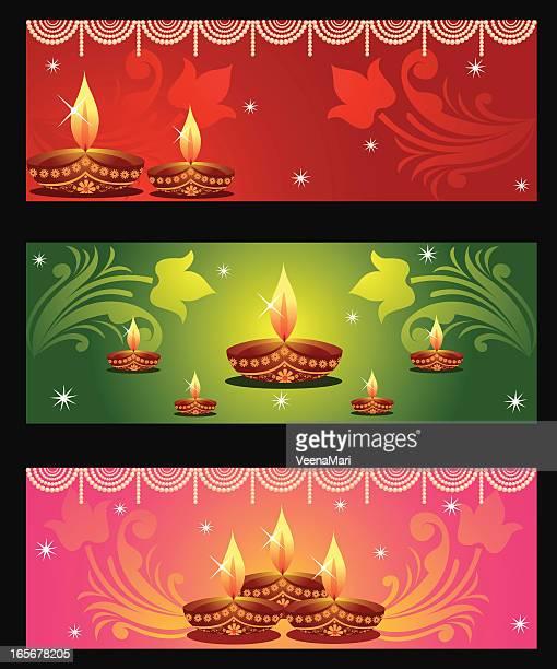 diwali banner/season greeting's - focus on background stock illustrations
