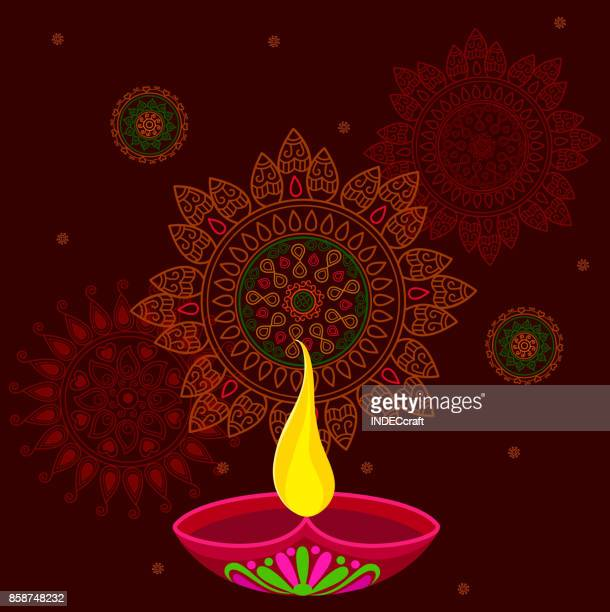 diwali celebration - diwali stock illustrations
