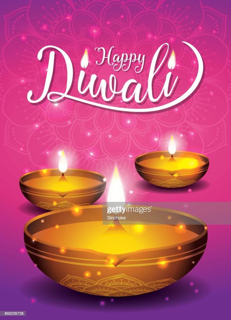 Diwali festival flyer and poster background