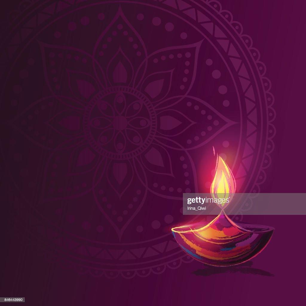 Diwali festival poster.