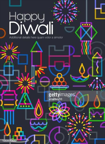 diwali greeting - hinduism stock illustrations
