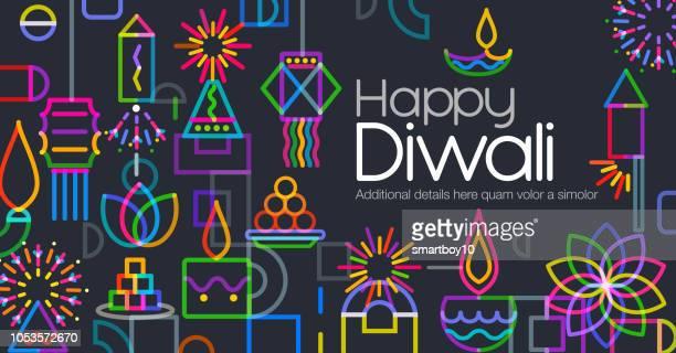 diwali greeting - diwali stock illustrations