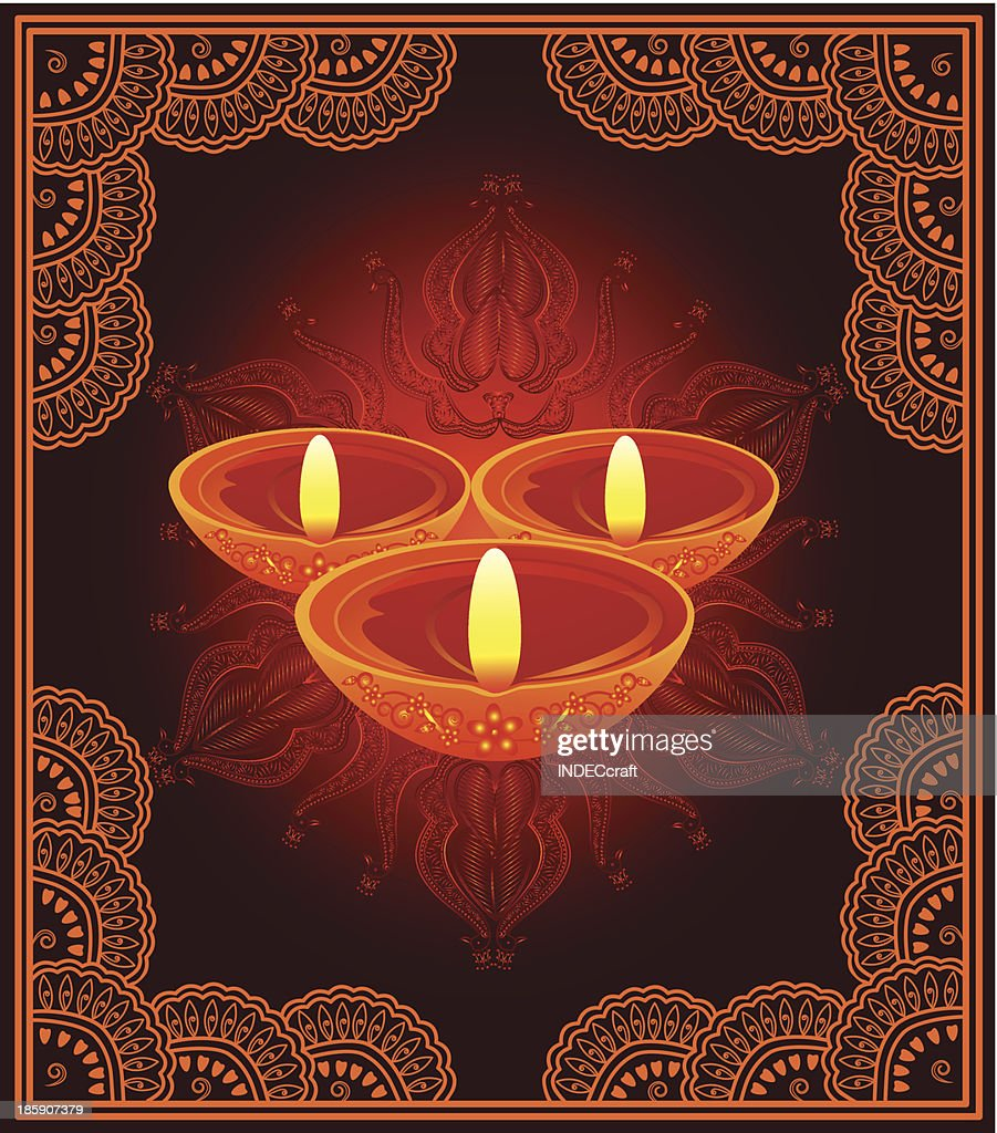 Diwali Greeting Vector Art Getty Images