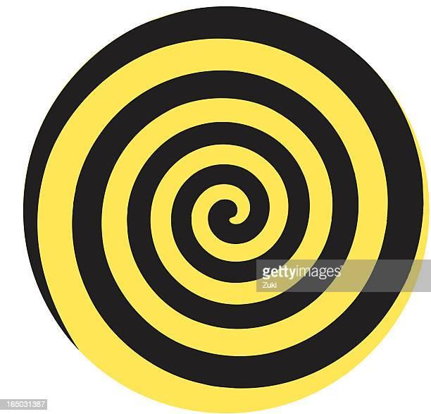 dizzy twirl - hypnosis stock illustrations