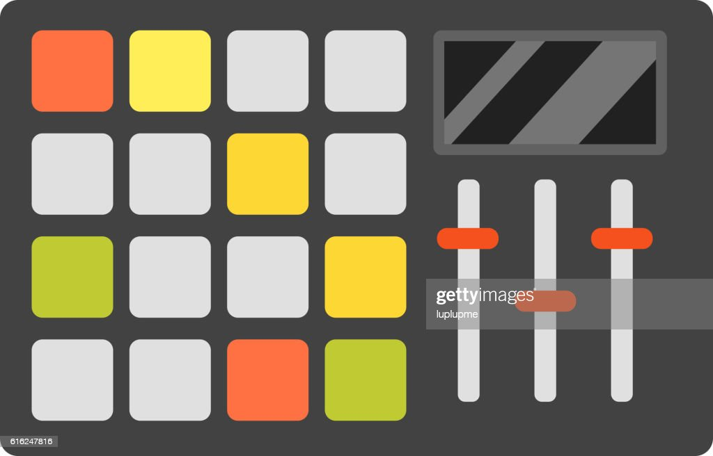 Dj music equipment icon : Vektorgrafik