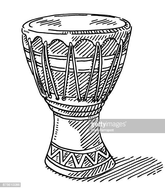 illustrations, cliparts, dessins animés et icônes de djembe drum africaine dessin - tambour et batterie