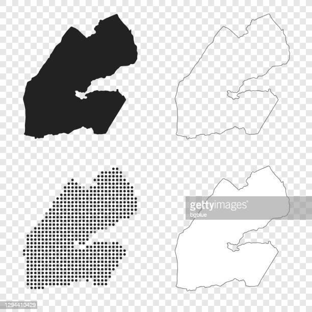 djibouti maps for design - black, outline, mosaic and white - djibouti stock illustrations