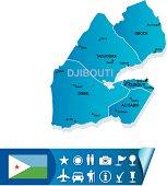 Djibouti vector map