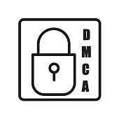 dmca icon isolated on white background