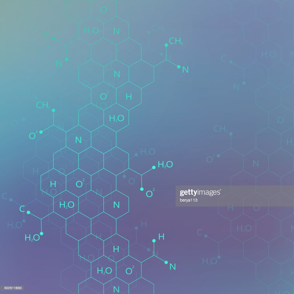 Dna molecule structure on blue background for your design .Vector