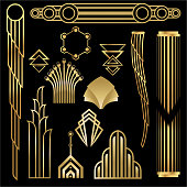 Do it your self set with art deco shapes to decorate any thing