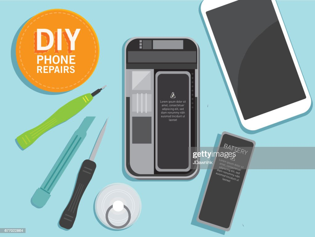 Do it yourself device repair concept overhead viewpoint vector art do it yourself device repair concept overhead viewpoint vector art solutioingenieria Image collections
