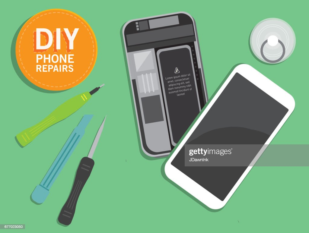 Do it yourself device repair concept overhead viewpoint vector art do it yourself device repair concept overhead viewpoint vector art solutioingenieria Gallery