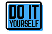 do it yourself stamp on white