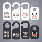 Do Not Disturb Sign Labels. Vector