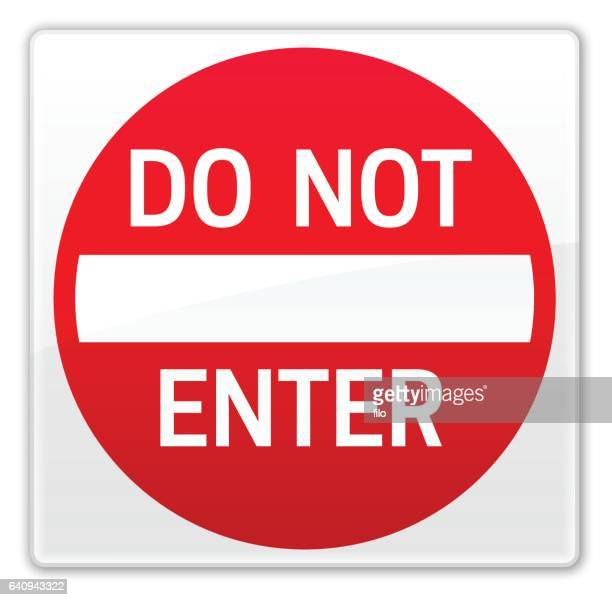 do not enter sign - wrong way stock illustrations