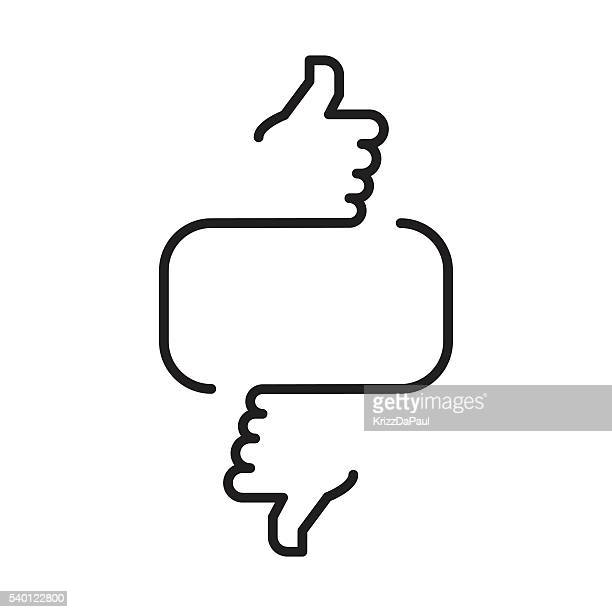 do you like it - thumbs down stock illustrations