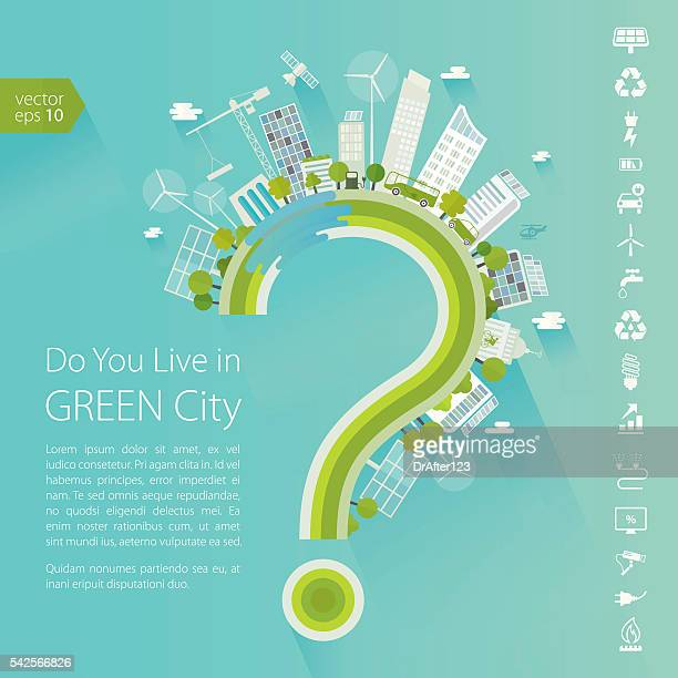 Do You Live In Green City Concept