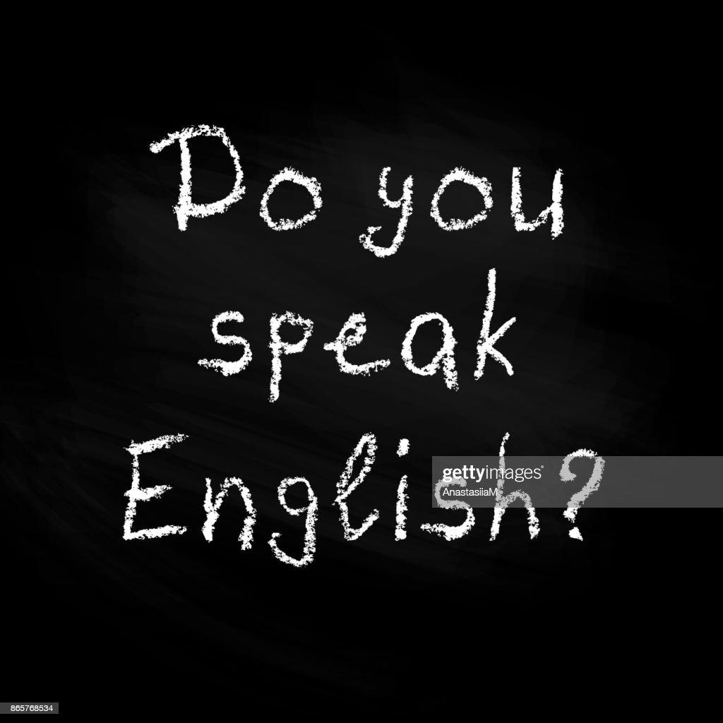 Do you speak English - poster