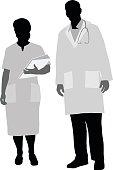 Doctor And Nurse Portrait