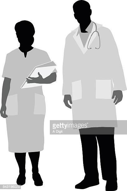 医師や看護師のポートレート