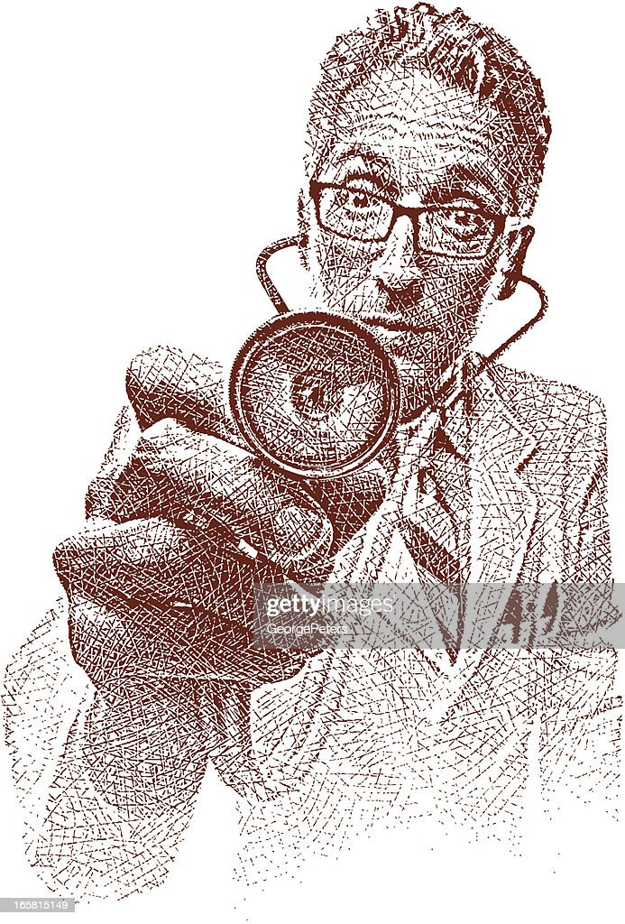 Doctor and Stethoscope : stock illustration