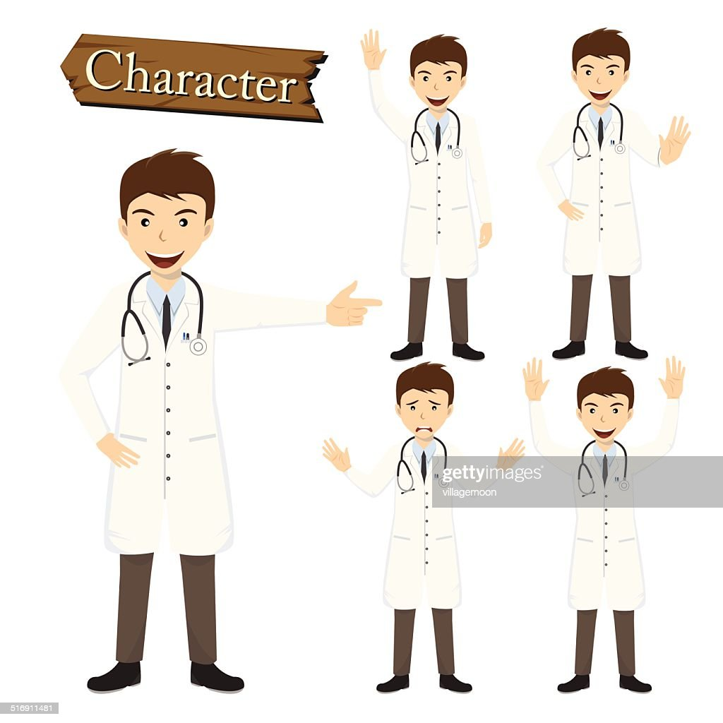 Doctor character set vector