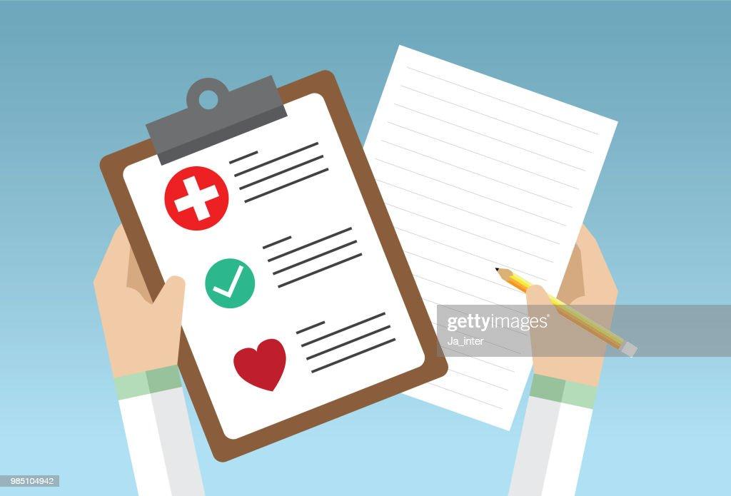 Médico área de transferência : Ilustração