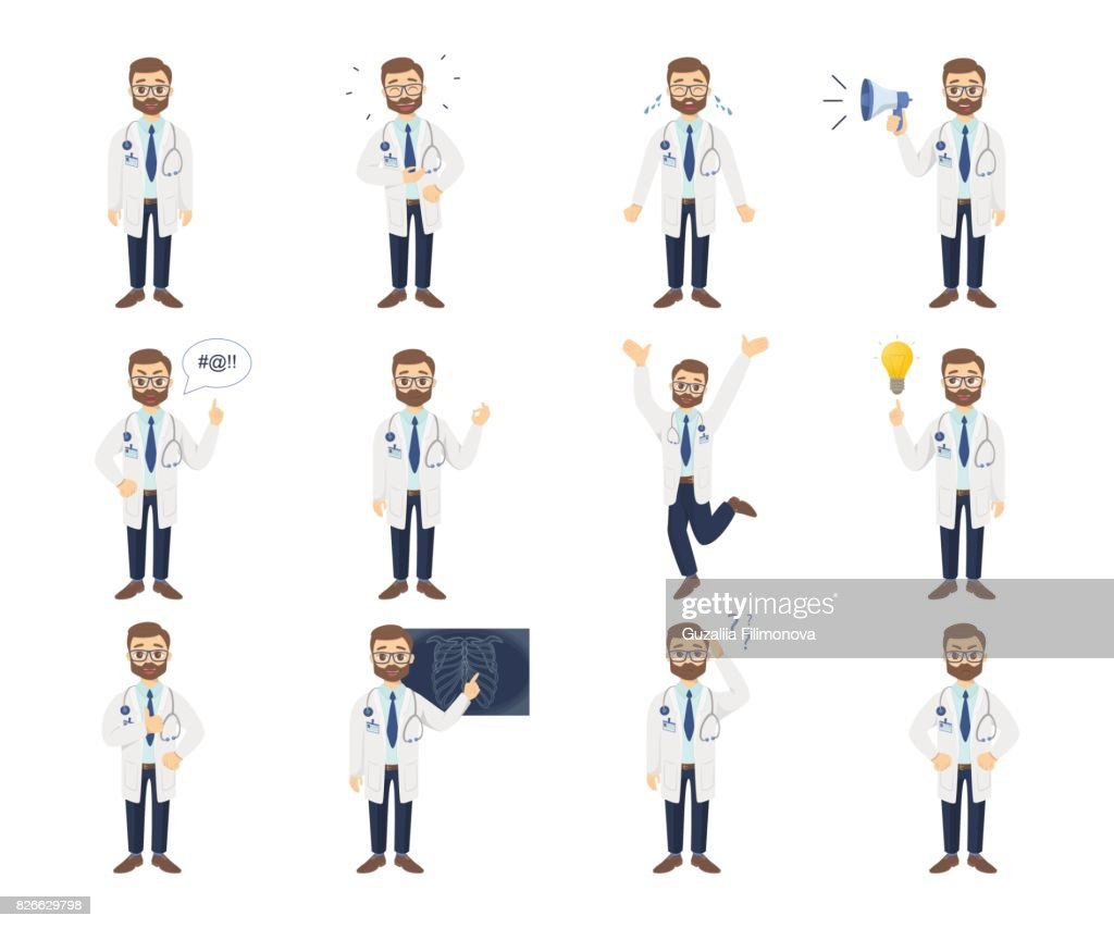 Doctor emoji set.