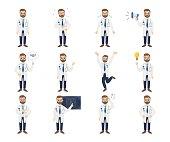 Doctor emoji set.