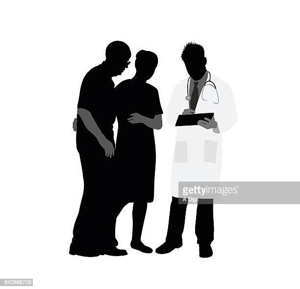 医師の医療条件を説明する