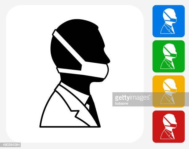 arzt gesicht symbol flache grafik design - mundschutz stock-grafiken, -clipart, -cartoons und -symbole