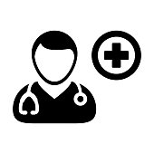 Doctor Icon Vector Flaticon With Cross Symbol Pictogram