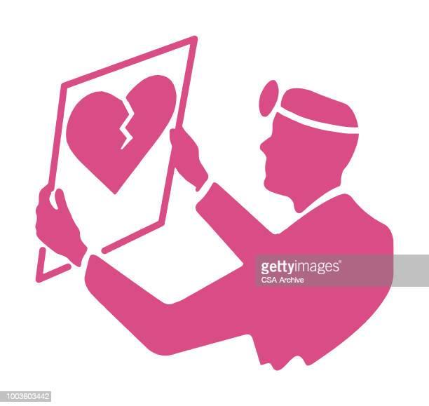 医者の心を見て - heart shape点のイラスト素材/クリップアート素材/マンガ素材/アイコン素材