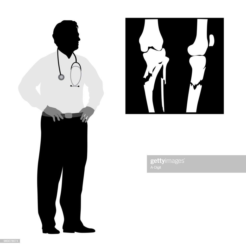 Medizinischer Rat des Arztes Fraktur : Stock-Illustration