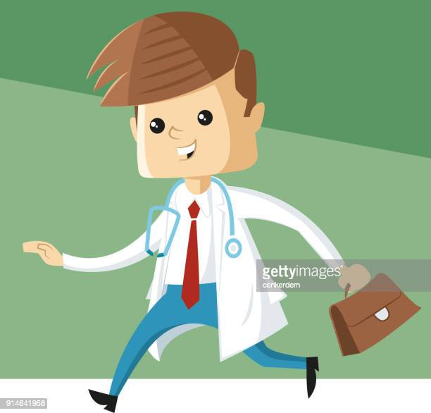 Doctor on the way (vector)