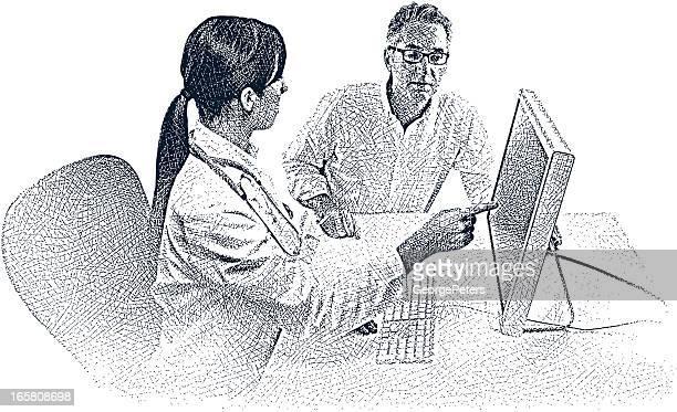 医師、患者とコンピュータ